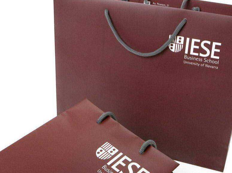 Bolsas de presentación impresas a un color