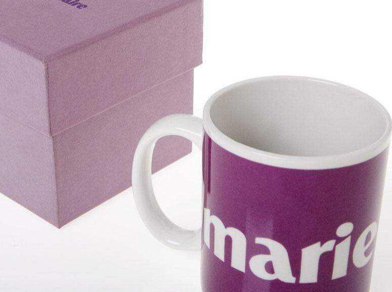 Mug de cerámica con caja de presentación