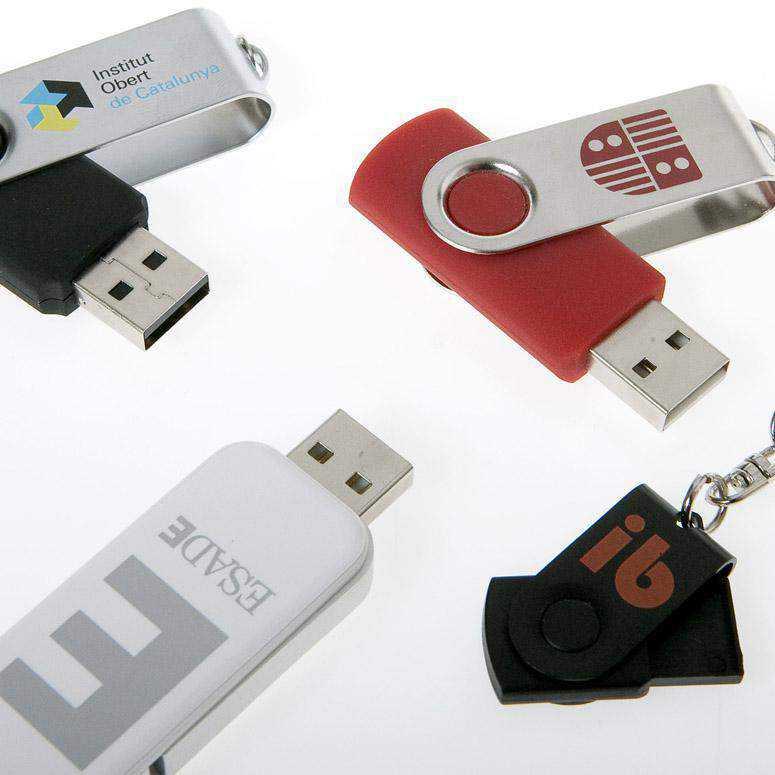 Diferentes memorias USB personalizadas