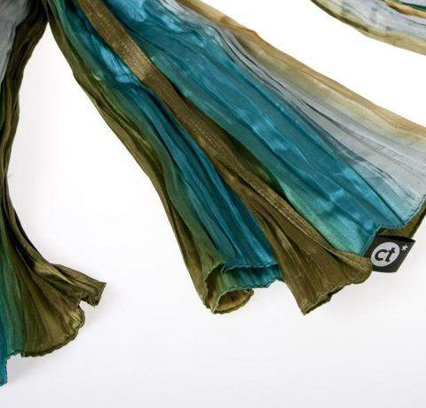 Foular de seda con etiqueta personalizada