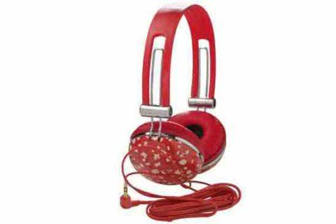 Auriculares rojos con cable Cacharel