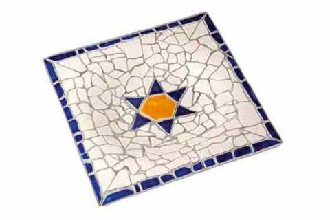 Bandeja cuadrada mosaico Gaudí