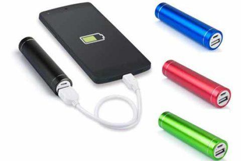 Batería de bolsillo en aluminio varios colores Ref. CM5101