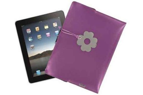Funda iPad metalizada color morado