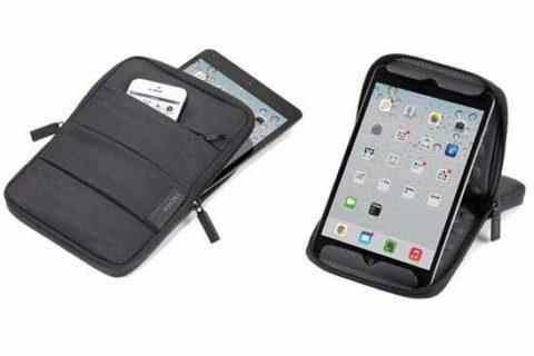 Funda iPad de nylon con cremallera y bolsillos Ref. TAS02