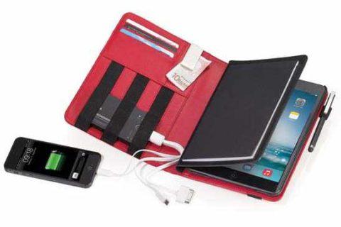Funda iPad en símil piel con compartimentos Ref. BOK17RD
